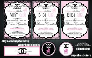 Chanel Baby Shower Invitation by Wimbsy
