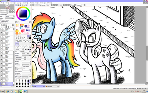 Smells like friendship WIP 1 by scootadoo