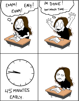 Exam Time by Jukiee