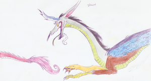 My Little Dragon: Discord by WheatPodlaska