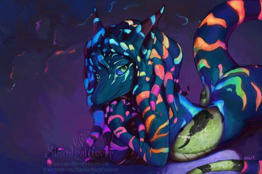 Luminescent Stripes by The-SixthLeafClover
