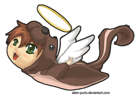one holy floating chipmunk by purlo