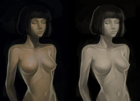Nude Painting Practice by KR0NPR1NZ