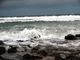 Waves Xmas Eve Balnakeil by merearthling