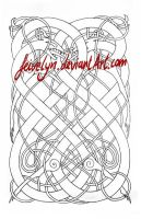 Knotwork Dragons IV - Urnes style by Feivelyn