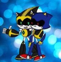 Shard and metal sonic by Sweetiecaramel