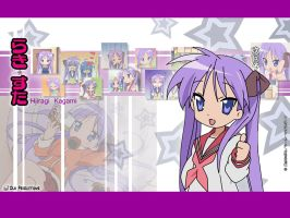 Lucky Star Wallpaper -Kagami- by duhproductions