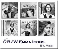 Emma Watson 6 Icons by VaL-DeViAnT