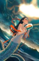 Nuwa the ancient goddess by lazyseal8
