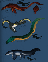Sea Monsters Color by Zalcoti