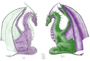 Left hand dragon colour by Scellanis