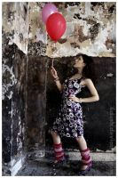 balloons lady by lidush