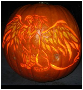Happy Halloween - Gryphon by pandami