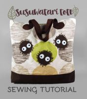 Sewing Tutorial - The Susuwatari Tote by SewDesuNe
