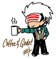 Coffee and Godot by thekyrianne