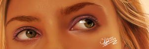 Scarlett Johansson Eyes by 3ff3ction