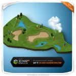 Isometric icons People - Golfer by templay-team