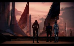 ME3 Thessia - The Fall of Thessia- Alan,Tali,Liara by chicksaw2002