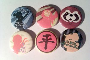 The Legend of Korra Button Set by IamSare