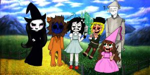 Personajes de Creepypastas version Mago de Oz by CreepyAdventures