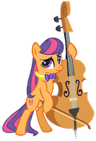 G3 Scootaloo as Octavia by AdolfWolfed4Life