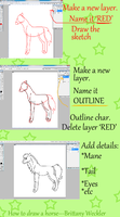 How to draw a horse---My way by Mustang-Heart