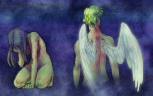 Colored-Eros and Psyche by nanashi