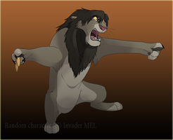 Lion... with doorknob by Mel777