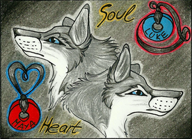 Luke and Maya ACEO .:Art-Trade:. by LukeWolf6