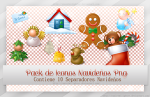 Pack de Icono Navidenos Png ~*~ by yssietwilighter