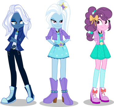 [AU] The Dazzlings by LimeDazzle