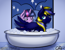 :Commission: Bath Time~ by CrispyChris