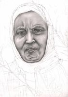 Graphite WIP portrait of my 'MUM' by Pen-Tacular-Artist
