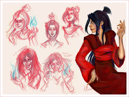 Sketch Dump: Princess Azula by papier-crane
