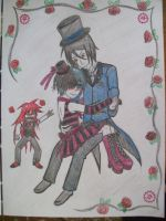Sebby x Ciel and Grell -color- by Sanji-Uchiha130