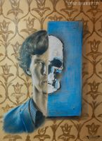 Sherlock and Mr.Blue Skull by ilmyart