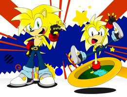 Anton The Hedgehog (Modern and Classic) by THEATOMBOMB035
