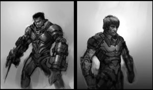 WIP soldiers by Robotpencil