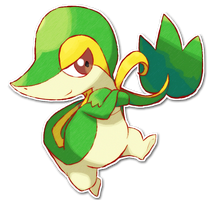495 Snivy by SarahRichford