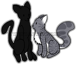 nightcloud and pigeonpaw by BirdiLover