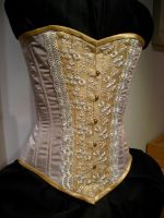 Victorian Wedding Corset by volatilevisions