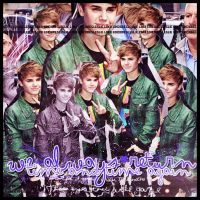 Bleend Justin Bieber by LesliiEditions
