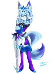Gift -Mira the Mirror Wolf by FrenzY-Frenzless
