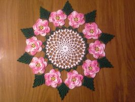 Wild Rose Doily by koepr5333