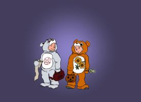 Trick or Treat Bears by systemcat