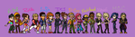 Dance Central 3: All crew sprites by euthanasian