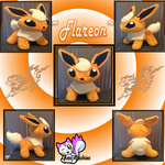 Minky Flareon Plushie *Sold* by Ami-Plushies