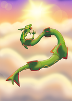 Above the Sky - Rayquaza by CosmicSprinkles