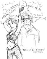 Tonks and Remus - HBP by lberghol