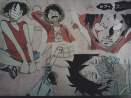 Luffy Art Dump - Happy Bday, Luffy! by Cam-san